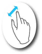 Gesture to zoom in